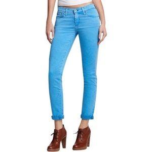 AG Slim Straight Blue Ankle Jeans, 31